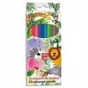 PLEIN CIEL Pochette de 12 ou 18 crayons de couleur assortis