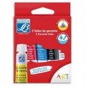 LEFRANC & BOURGEOIS Boîte brochable en carton de 5 tubes de gouache 10ml. Coloris assortis