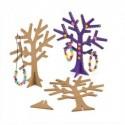 Arbre à bijoux avec socle, en bois à décorer, hauteur 19 cm