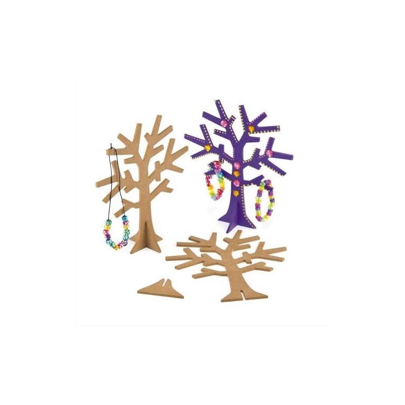 Arbre bijoux avec socle en bois d corer hauteur 19 cm direct papeterie - Arbre a bijoux en bois ...
