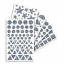 MAILDOR Sachet de 20 feuilles de gommettes holographiques assorties