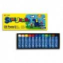 MUNGUYO Boîte de 12 pastels à l'huile format jumbo 18mm couleurs assorties