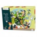 AVENUE MANDARINE Puzzle 40 pièces, dimaètre 45 cm, thème Les saisons. A partir de 5 ans.