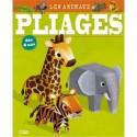 LITO DIFFUSION Bloc de 16 pages, 7 animaux à plier sans ciseaux sans colle et gommettes pour décorer