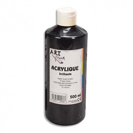 ART PLUS Acrylique brillante 500ml noir