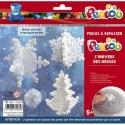 PERLOU Kit d'activité perles à repasser, 1000 perles assorties, 1 plaque, thème l'univers des neiges