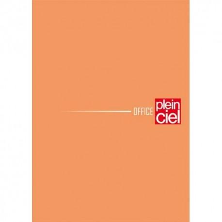 PLEIN CIEL Bloc agrafé en-tête 160 pages non perforées 80g 5x5 10,5x14,8 Couverture orange