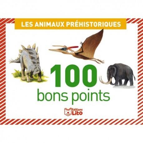 LITO DIFFUSION Boîte de 100 bons points animaux préhistorique