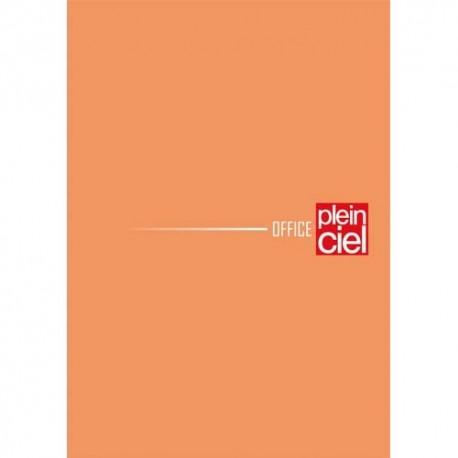 PLEIN CIEL Bloc agrafé en-tête 160 pages non perforées 80g unies 14,8x21 Couverture orange