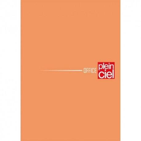 PLEIN CIEL Bloc agrafé en-tête 160 pages non perforées 80g ligné+marge gauche 7,4x10,5 Couverture orange