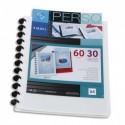 VIQUEL Protège-documents MAXI GEODE en pp opaque 5/10e. Couv personnalisable. 60 vues - Blanc