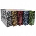 Boîte transfert marbrée Exacompta Anoney, carton rigide recouvert papier vernis dimensions  34x25,5cm - Assortis