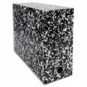 Boîte transfert marbrée Exacompta Anoney, carton rigide recouvert papier vernis dimensions  34x25,5cm - Blanc