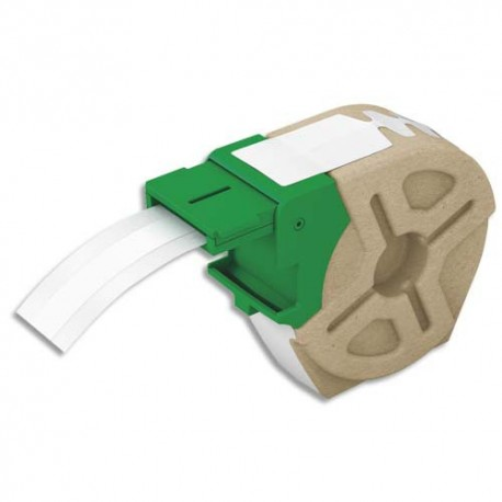LEITZ 70110001 - Cartouche ruban d'étiquettes continues en papier adhésif permanent 12mmx22m Blanc 70110001
