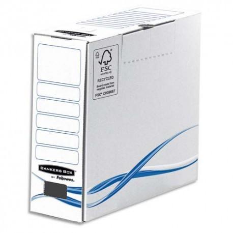 Archivage BANKERS BOX Boîte archives BASIQUE, montage manuel, en carton blanc/bleu