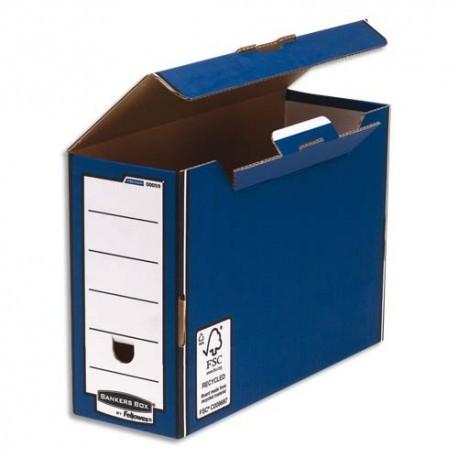 Archivage BANKERS BOX - Boîte archives PRESTO dos 12,7cm, montage automatique, carton recyclé