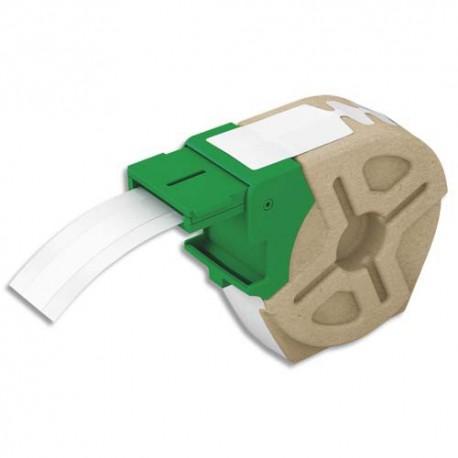 LEITZ 70150001 - Cartouche ruban d'étiquettes continues plastique adhésif permanent 12mmx10m Blanc 70150001
