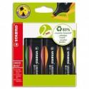 Surligneur Stabilo GREENBOSS, 83% de matière recyclée, coloris jaune ou assortis - Assortis (4)