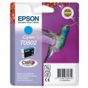 T0802 (T080240) EPSON Cartouche jet d'encre cyan de marque Epson C13T080240