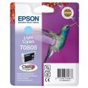 T0805 (T080540) EPSON Cartouche jet d'encre cyan clair de marque Epson C13T080540