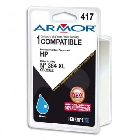 ARMOR compatible Jet d'encre Cyan pour HP CB323EE K12573