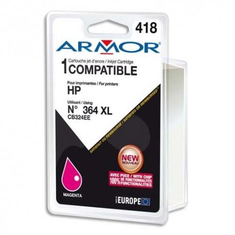 ARMOR compatible Jet d'encre Magenta pour HP CB324EE K12574