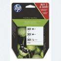 HP Pack HP 301 2 cartouches d'encre noir + 1 Cartouche d'encre tri-couleur E5Y87EE