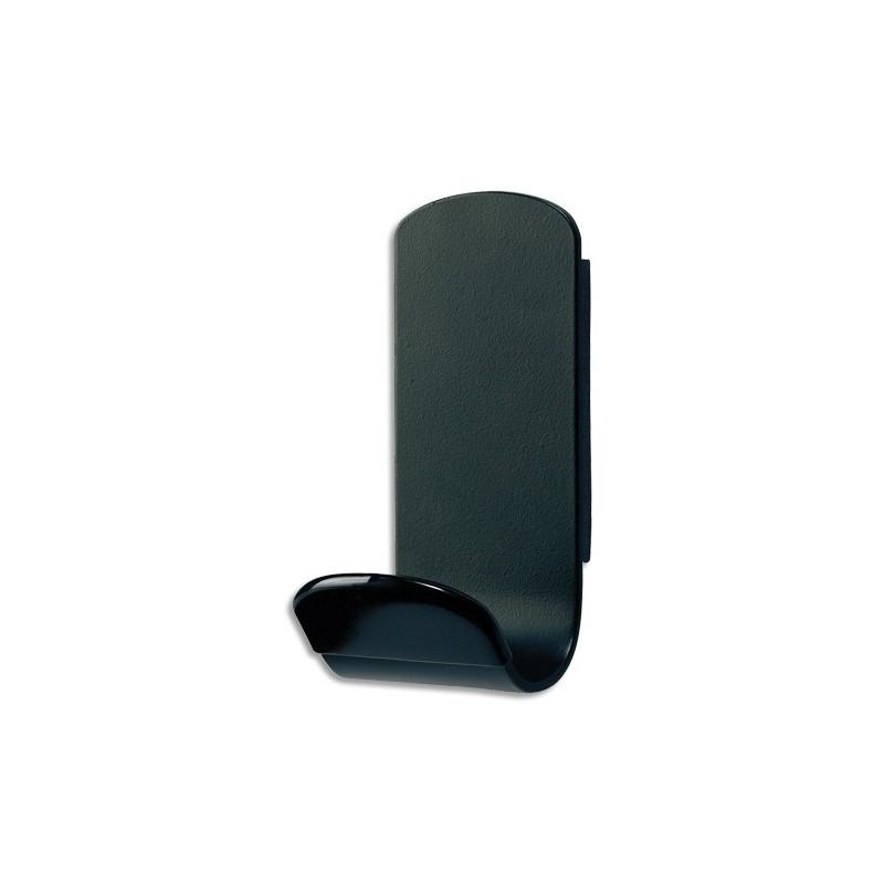 unilux patère magnétique simple steely noire, en acier, charge