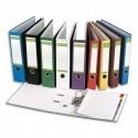 PERGAMY Classeur à levier en papier recyclé intérieur/extérieur. Dos 8cm. Format A4. Coloris vert foncé