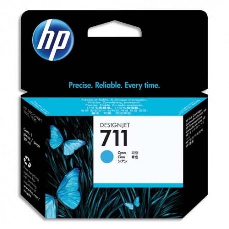 HP Cartouche jet d'encre cyan 711 CZ130A