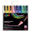 UNIBALL SET de 8 Markers POSCA Pointe conique moyenne assortis - Assortis