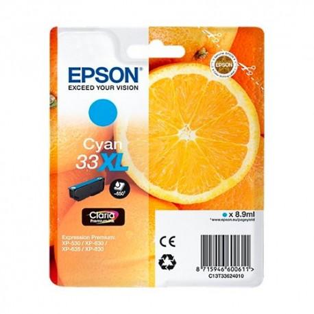 EPSON (T3362) cartouche jet d'encre xl cyan C13T33624010