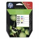 HP Cartouche pack de 4 couleur jet d'encre 934XL/935XL X4E14AE