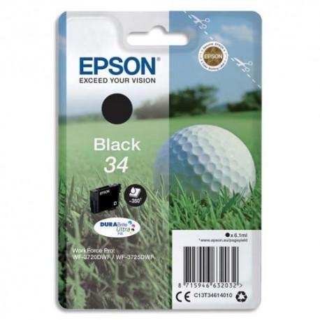 """EPSON (T3461) Cartouche """"balle de golf"""" jet d'encre durabrite ultra noir C13T34614010"""