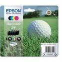 """EPSON (T3466) Cartouche multipack """"balle de golf"""" jet d'encre durabrite ultra noir/cyan/magenta/jne C13T34664010"""