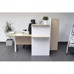 MT INTERNATIONAL Banque d'accueil MT4 Confort blanc hêtre, Dimensions : L168,8 x H131,1 x P95,8 cm