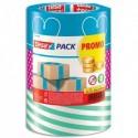 TESA Pack de 3 Rubans adhésif d'emballage coloris assortis, polypropylène 52 microns H25 mm x L50 mètres