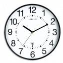 UNILUX Horloge Wave radio-piloté Noire, à pile AA non fournie, Diamètre 30,5 cm