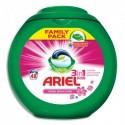 ARIEL Boîte plastique de 48 doses de lessive liquide Ecodoses 3en1 parfum Pink Fresh