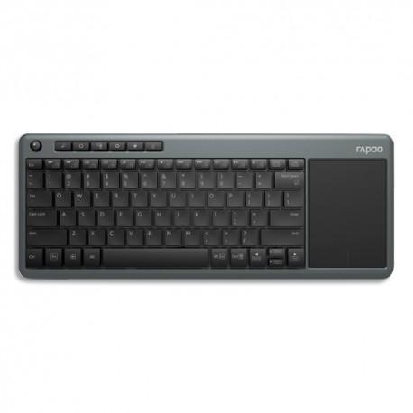 RAPOO Clavier sans fil noir avec touchpad K2600 16938