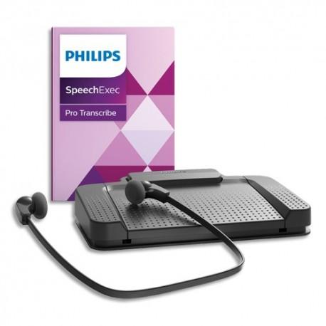 PHILIPS Kit de transcription et de reconnaissance vocale numérique SpeechExec Pro PSE7277