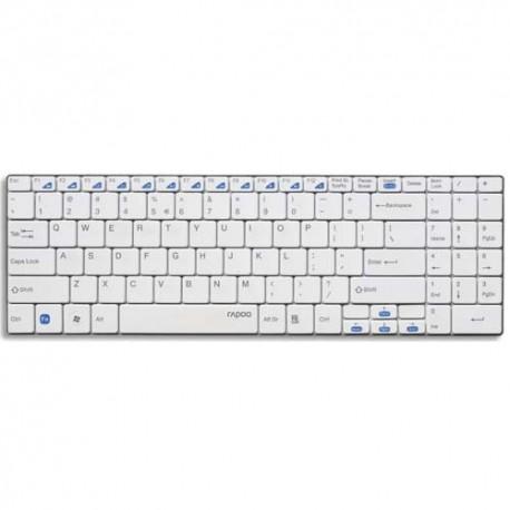RAPOO Clavier sans fil ultra fin blanc E9070 RA10782