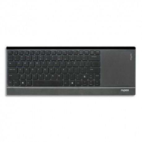 RAPOO Clavier sans fil noir avec zone smart touch E9090P 12539