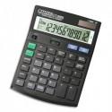 CITIZEN Calculatrice de bureau Contrôle + correction + taxe, 12 chiffres Noir CT666N