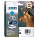 T1302 (T130240) EPSON cartouche jet d'encre cyan de marque Epson C13T130240