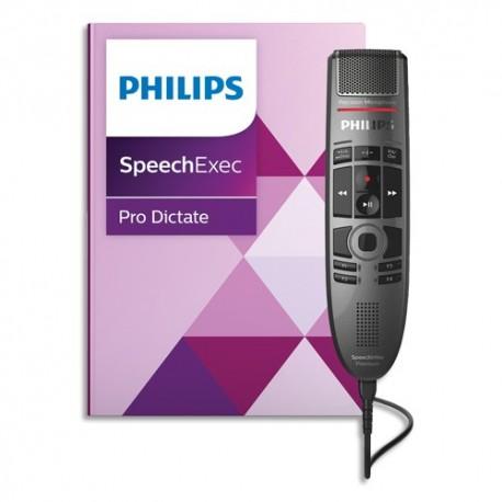 PHILIPS SpeechMike Premium touch: set de dictée et de reconnaissance vocale numérique PSE3700