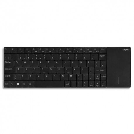 RAPOO Clavier sans fil touchpad noir E2710 RA16174