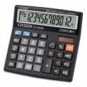 CITIZEN Calculatrice de bureau Contrôle + correction, 12 chiffres Noir CT555N
