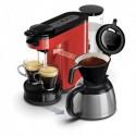 SENSEO Machine à café Switch Rouge, 1450W, capacité 1L, 2 à 7 tasses, L15 x H27 x P40 cm
