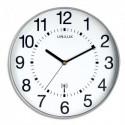 UNILUX Horloge Wave radio-piloté Gris métalisé, à pile AA non fournie, Diamètre 30,5 cm